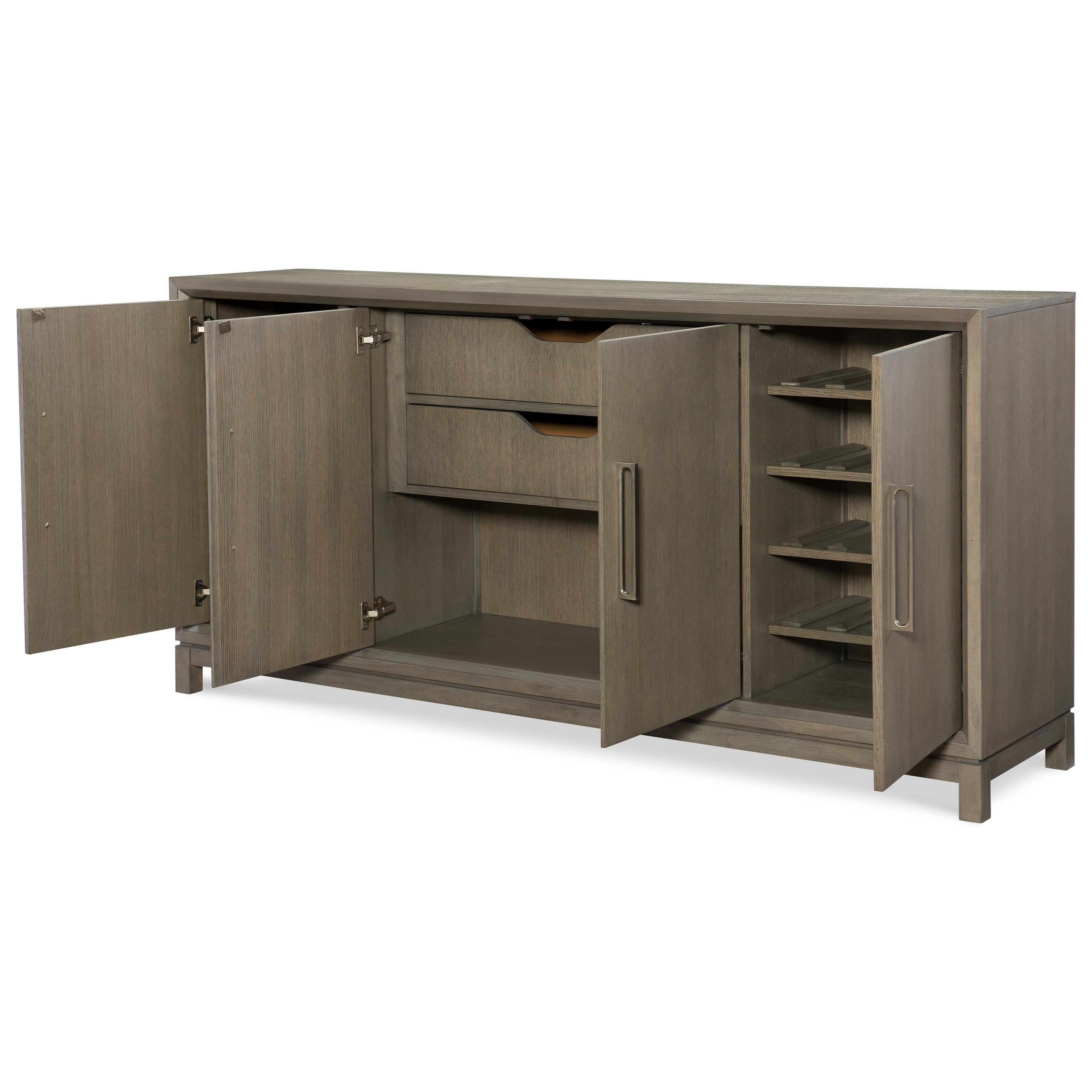 Rachael Ray Home High Line Credenza With Reversible Wine Bottle Shelves Fashion Furniture