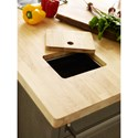 Rachael Ray Home Highline Kitchen Island with Butcher Block Top