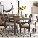 Rachael Ray Home Highline 7 Piece Dining Set with Ladder Back Chairs