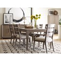 Rachael Ray Home by Legacy Classic High Line 7 Piece Dining Set with Ladder Back Chairs