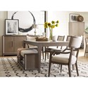 Rachael Ray Home Highline Klismo Arm Chair with Upholstered Seat and Back