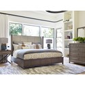 Rachael Ray Home Highline Queen Upholstered Shelter Bed