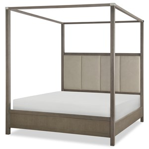 Rachael Ray Home Highline Queen Upholstered Poster Bed