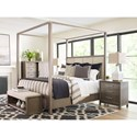 Rachael Ray Home Highline King Upholstered Poster Bed