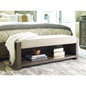 Rachael Ray Home Highline Upholstered Bench with Shelf