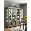 Rachael Ray Home by Legacy Classic High Line Bunching Display Cabinet with Built-in Lighting