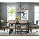 Rachael Ray Home by Legacy Classic Highline 7 Piece Dining set - Item Number: 6000-621K+2x341+4x340