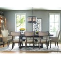 Rachael Ray Home by Legacy Classic High Line 9 Piece Dining Set - Item Number: 6000-621K+2x451+6x340