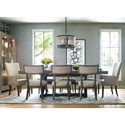 Rachael Ray Home by Legacy Classic High Line 9 Piece Dining Set with Trestle Table