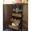 Rachael Ray Home by Legacy Classic Soho Mid-Century Modern Bar Cabinet with Wine Storage