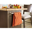 Rachael Ray Home by Legacy Classic Soho Mid-Century Modern Kitchen Island with Hidden Trash Receptacle