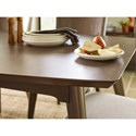 Rachael Ray Home by Legacy Classic Soho Mid-Century Modern Rectangular Table with Leaf