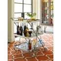 Rachael Ray Home by Legacy Classic Soho Mid-Century Modern Rolling Serving Cart with 3 Shelves