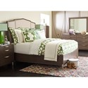 Rachael Ray Home by Legacy Classic Soho Mid-Century Modern Queen Upholstered Bed