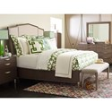 Rachael Ray Home by Legacy Classic Soho Mid-Century Modern California King Upholstered Bed