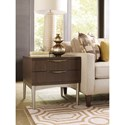 Rachael Ray Home by Legacy Classic Soho Mid-Century Modern End Table with 2 Drawers