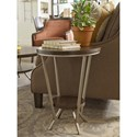 Rachael Ray Home by Legacy Classic Soho Mid-Century Modern Round End Table with Bottom Shelf