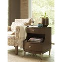 Rachael Ray Home by Legacy Classic Soho Mid-Century Modern Chairside Table wtih 2 Drawers and 1 Shelf