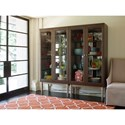 Rachael Ray Home by Legacy Classic Soho Mid-Century Modern Display Cabinet with Mirrored Back