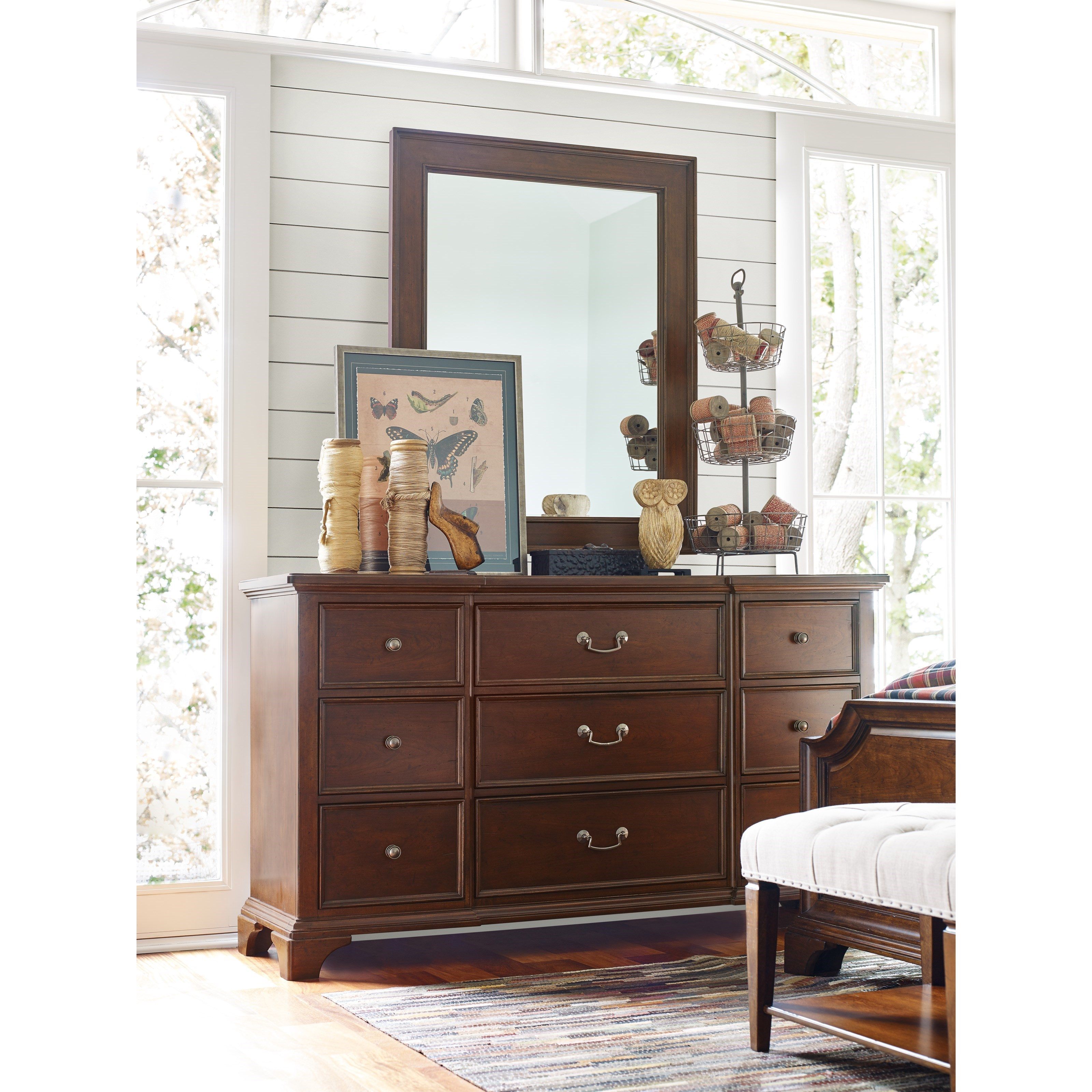 Rachael Ray Home by Legacy Classic Upstate 9 Drawer Dresser and Mirror - Item Number: 6040-1200+0200