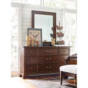 Rachael Ray Home by Legacy Classic Upstate 9 Drawer Dresser and Mirror