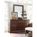 Rachael Ray Home by Legacy Classic Upstate 9 Drawer Dresser and Mirror with Wood Frame