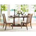 Rachael Ray Home by Legacy Classic Upstate Slat Back Side Chair with Upholstered Seat