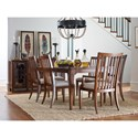 Rachael Ray Home Upstate Slat Back Side Chair with Upholstered Seat