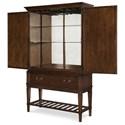 Rachael Ray Home by Legacy Classic Upstate Bar Cabinet with Lighted Mirror Back