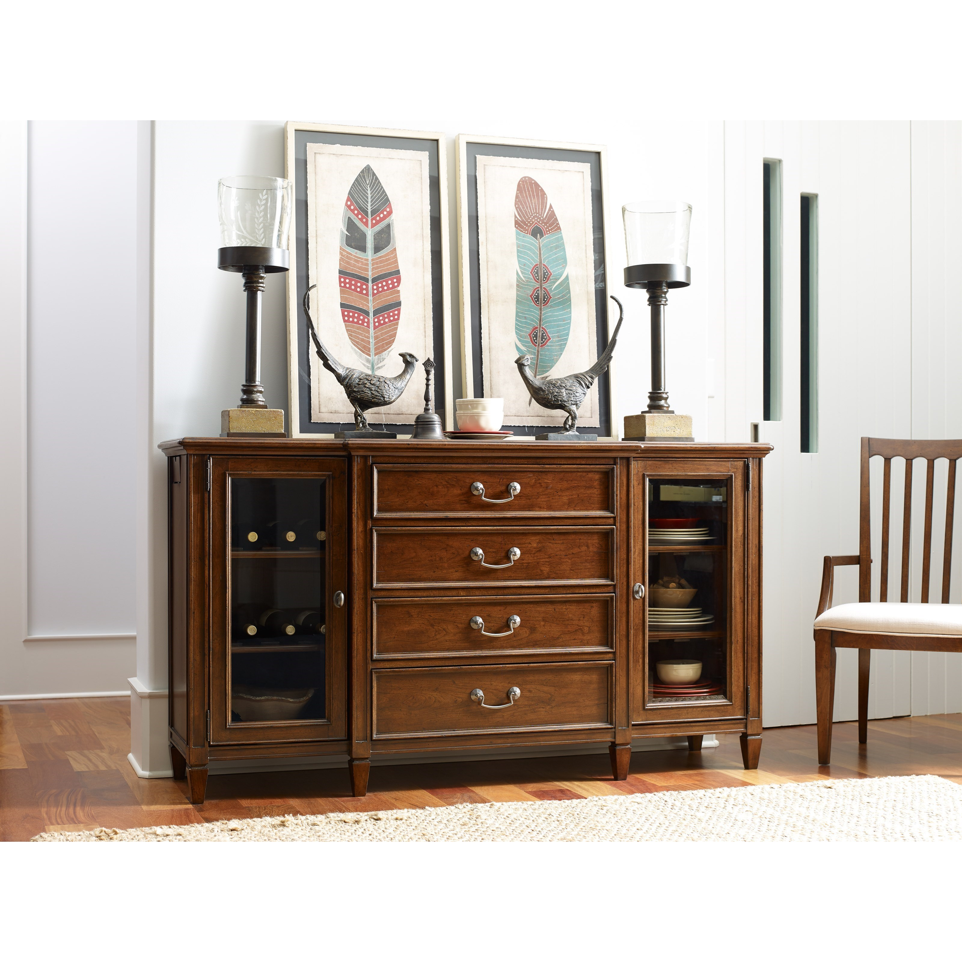 Rachael Ray Home By Legacy Classic Upstate Sideboard With Usb Outlet Fashion Furniture