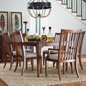 Rachael Ray Home by Legacy Classic Upstate 7 Piece Table & Chair Set - Item Number: 6040-221+2x141KD+4x140KD
