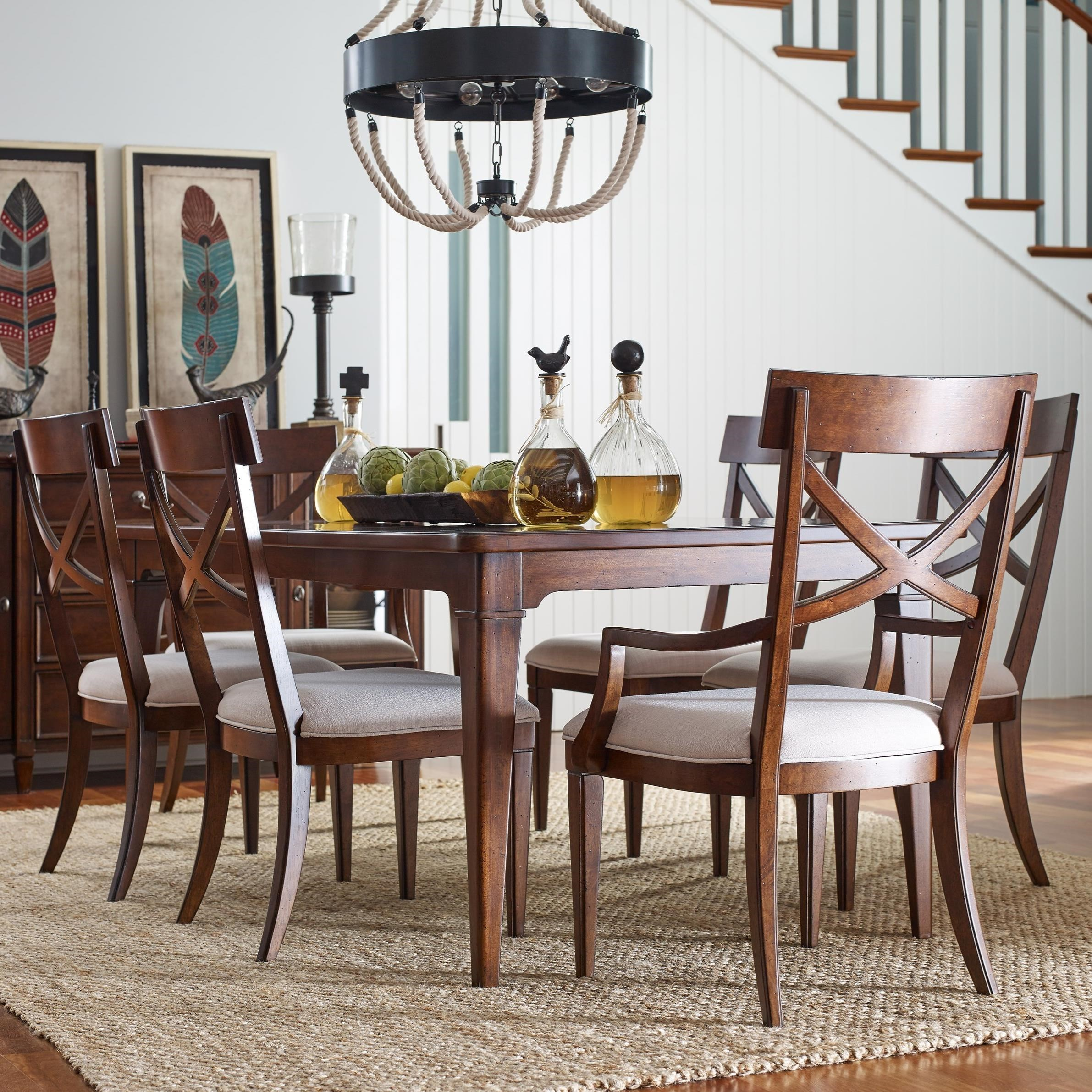 Rachael Ray Home by Legacy Classic Upstate 7 Piece Table & Chair Set - Item Number: 6040-221+2x241KD+4x240KD