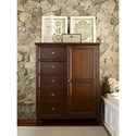 Rachael Ray Home Upstate Sliding Door Chest with Five Drawers