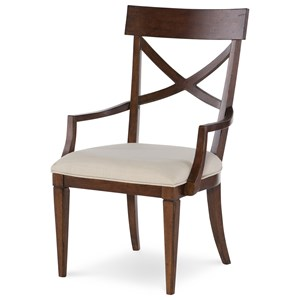 Rachael Ray Home Upstate X-Back Arm Chair