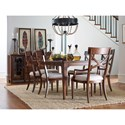 Rachael Ray Home by Legacy Classic Upstate X-Back Arm Chair with Upholstered Seat