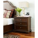 Rachael Ray Home Upstate 3 Drawer Nightstand with USB Outlet