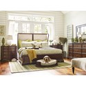 Rachael Ray Home Upstate King Upholstered Shelter Bed