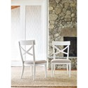 Rachael Ray Home by Legacy Classic Upstate X-Back Side Chair with Upholstered Seat