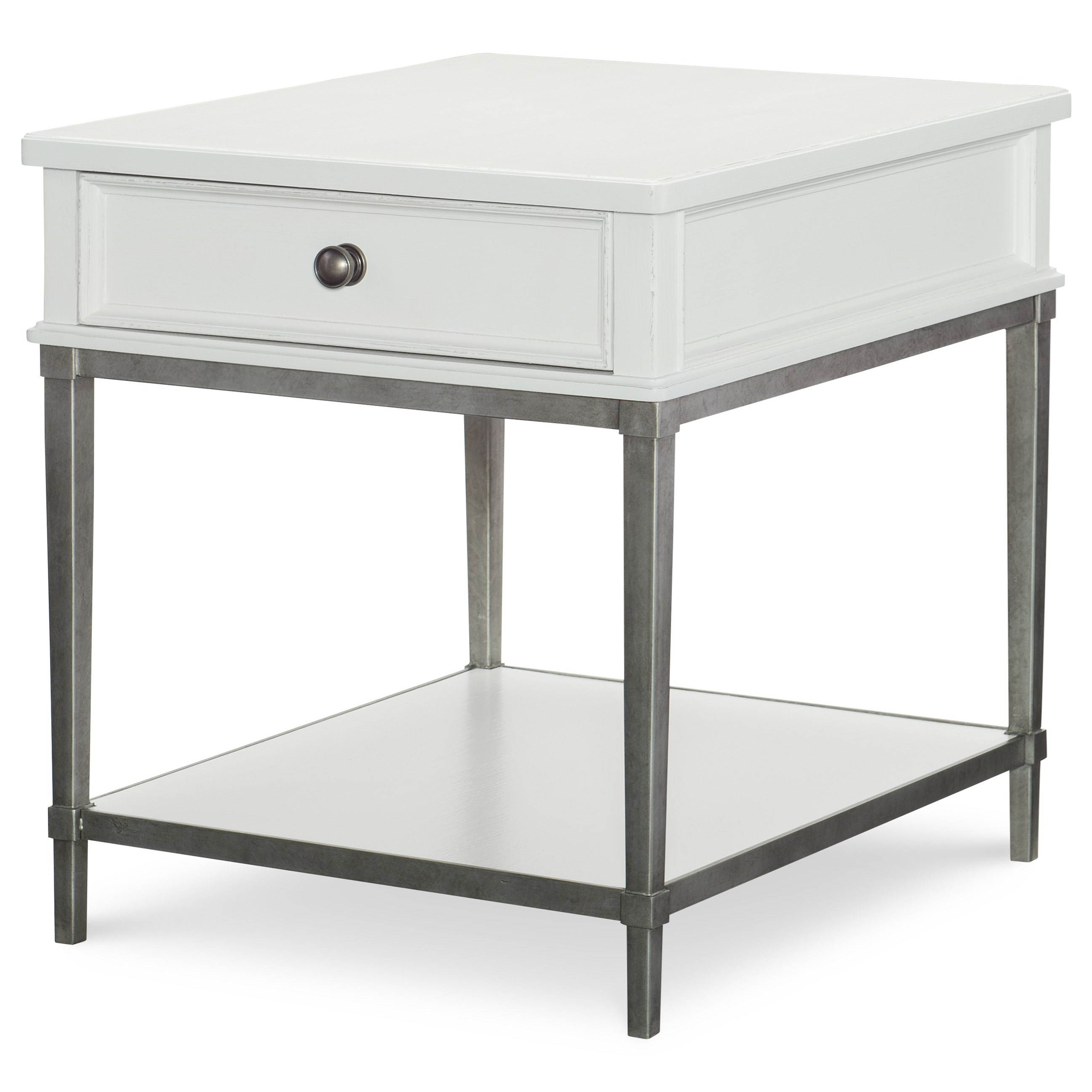 Rachael Ray Home by Legacy Classic Upstate End Table with Metal Base - Item Number: 6041-405