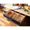 Rachael Ray Home by Legacy Classic Upstate Kitchen Island with Two Pot and Pan Drawers