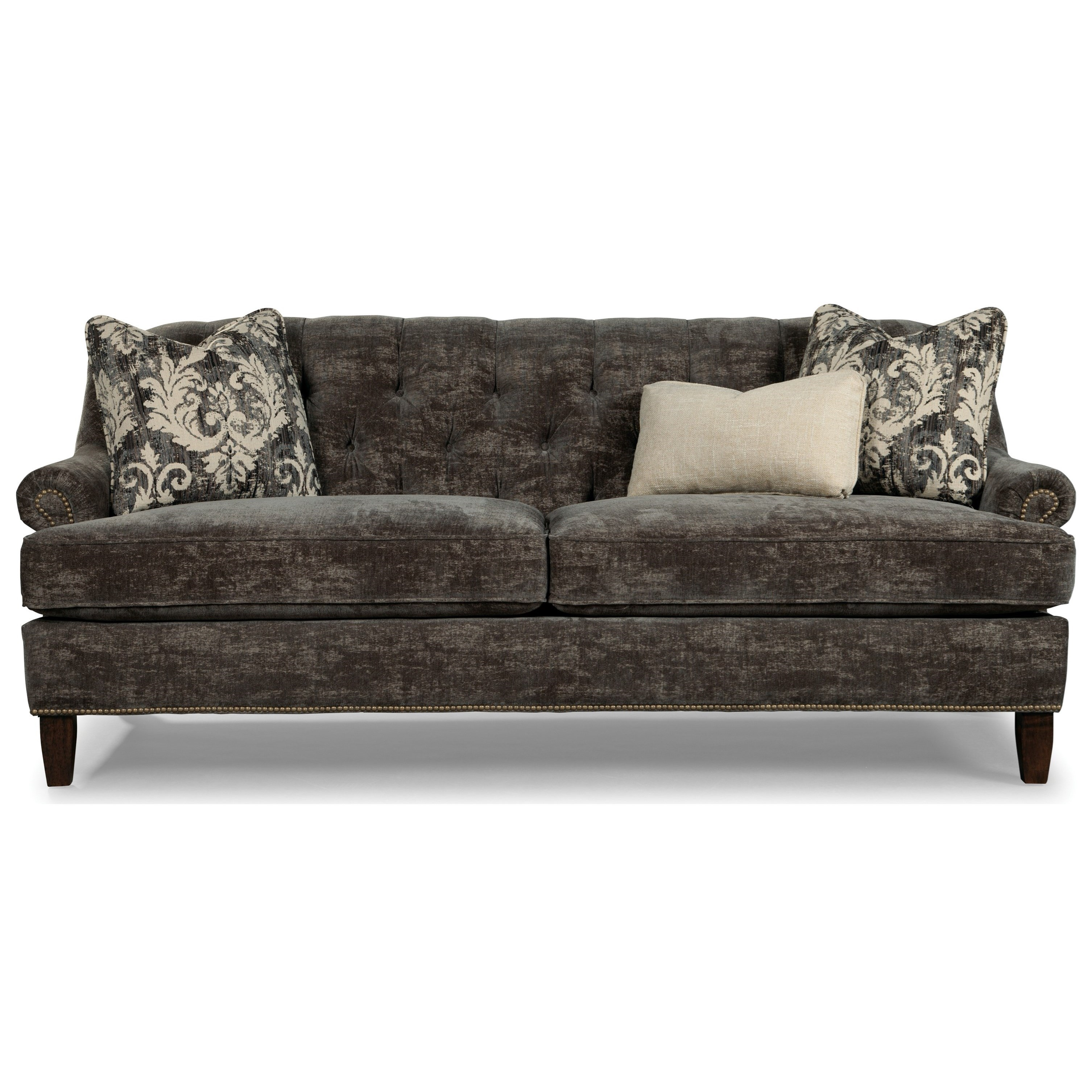 Paris Transitional Tufted White Leather Sectional Sofa: Rachael Ray Home By Craftmaster Upstate Transitional