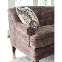 Rachael Ray Home by Craftmaster 7614 - 7615 - 7616 Transitional Tufted Sofa with Brass Nailheads on Arm and Base