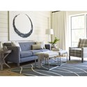 Rachael Ray Home by Craftmaster R060200 Bunching Metal Cube Ottoman with Upholstered Seat