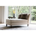 Rachael Ray Home by Craftmaster Highline Transitional Chaise Lounge with Tufted Seat and Toss Pillows