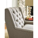 Rachael Ray Home by Craftmaster Upstate Tufted Chair with Light Brass Nailheads