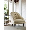Rachael Ray Home by Craftmaster Upstate Traditional Button Tufted Chair with Turned Legs