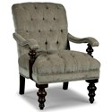 Rachael Ray Home by Craftmaster Upstate Traditional Tufted Chair and Ottoman Set with Pewter Nails