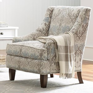 Rachael Ray Home by Craftmaster Upstate Chair w/ Pewter Nailheads