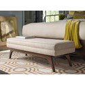 Rachael Ray Home by Craftmaster Soho Mid Century Modern Bench Cocktail Ottoman