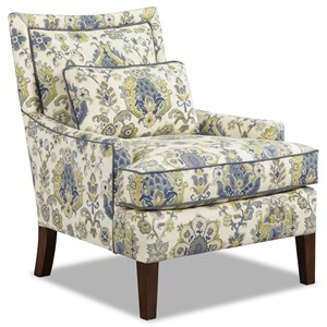 Rachael Ray Home By Craftmaster Highline Accent Chair With Tight Border Back And Kidney Pillow